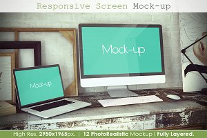 Responsive Screen Mockup V2
