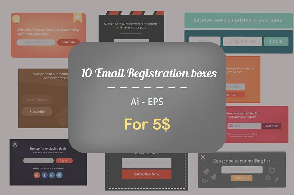 10 Email Subscription Forms