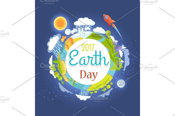 Earth Day 2017 Promotional Poster Illustration
