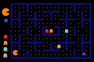 Pacman game user interface