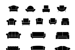 Couch and armchair furniture