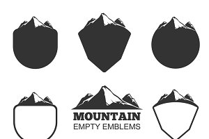 Retro vector mountain badges