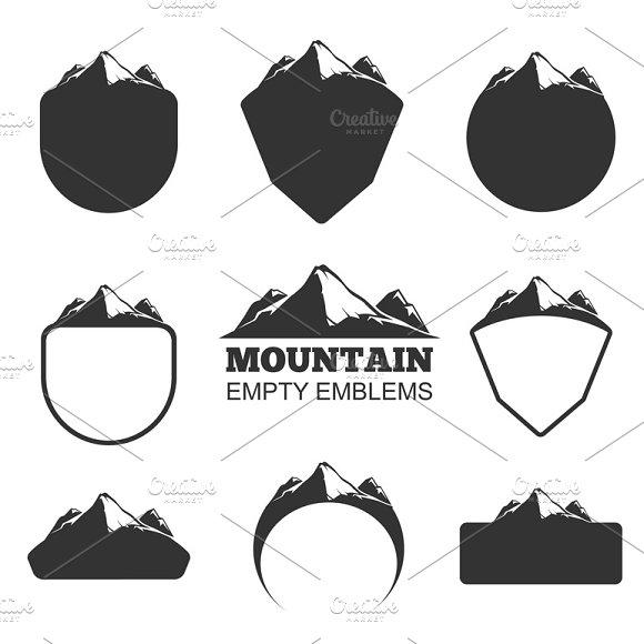 Retro Vector Mountain Badges