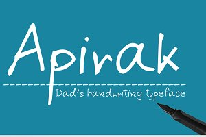 Apirak Handwriting Typeface