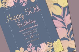 Birthday invite template mockup templates creative market birthday invite template mockup stopboris Image collections