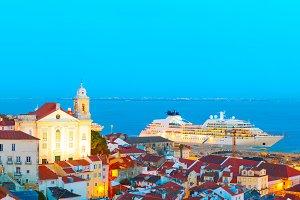 Lisbon Old Twon at twilight