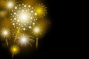 Vector gold firework design
