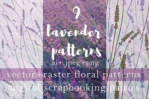 9 Realistic Lavender Patterns