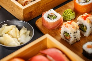 Sushi assortments