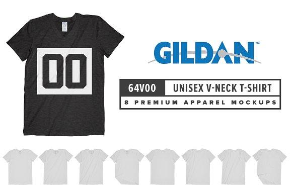 Gildan 64V00 Unisex V-Neck T-Shirt