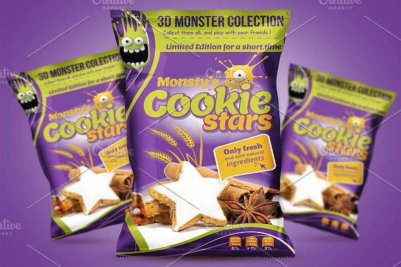Cookie Packaging Design Template
