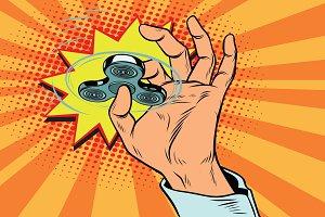 fidget spinner hand rotation