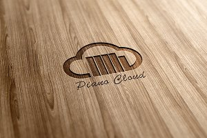 Piano Cloud Logo Design
