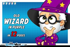 Old Wizard In Purple