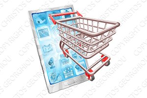Shopping phone app concept