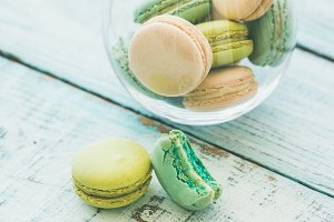 French macaron biscuits