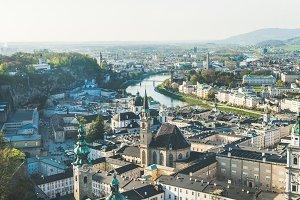 Old town center of Salzburg, Austria