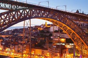 Porto at beautiful twilight,