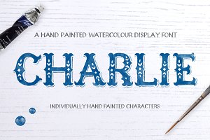 Charlie Watercolour Display Font