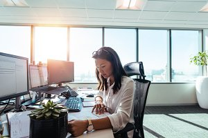 Woman entrepreneur at work