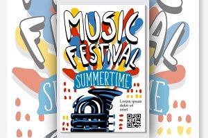 Concert Music Festival Vector Poster