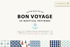 Bon Voyage! Nautical Patterns