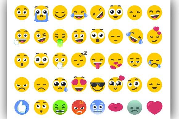 Vector Emoji Bundle Isolated Icons