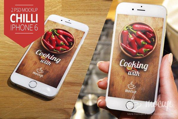 2PSD iPhone 6 Mockup Chilli