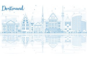 Outline Dortmund Skyline