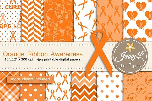 Orange Ribbon Awareness DigitalPaper