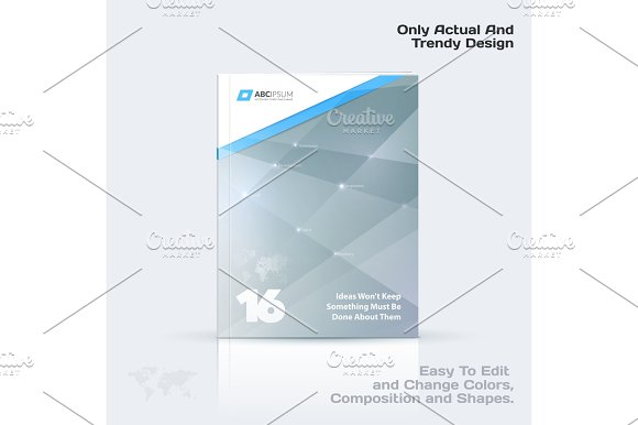 Business Vector Template Brochure Design Abstract Annual Report Cover Modern Layout