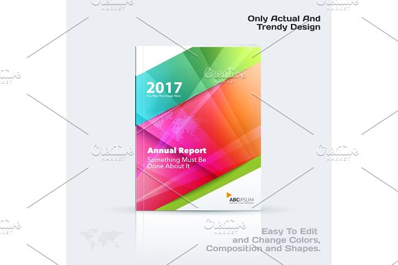 Business vector template, brochure design, abstract annual report, cover modern layout