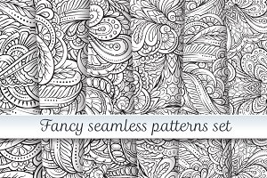 6 fancy seamless patterns set