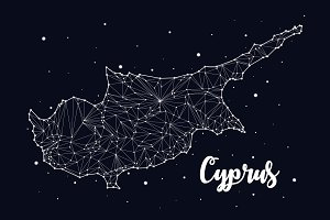 Cyprus map constellation