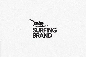 Surfing Brand Logo