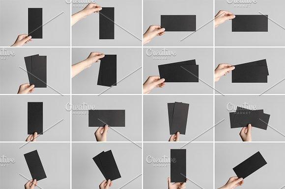 Black DL Flyer Mock-Up Photo Bundle