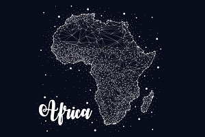 Africa, map, constellation