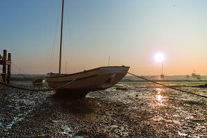 Boat at Sunset, Leigh on Sea