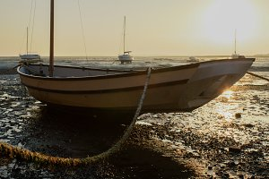 Boat Tethered at Leigh on Sea