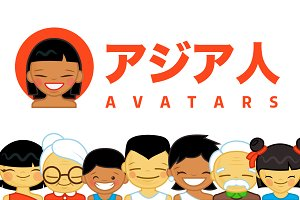 ASIAN AVATARS ICON set