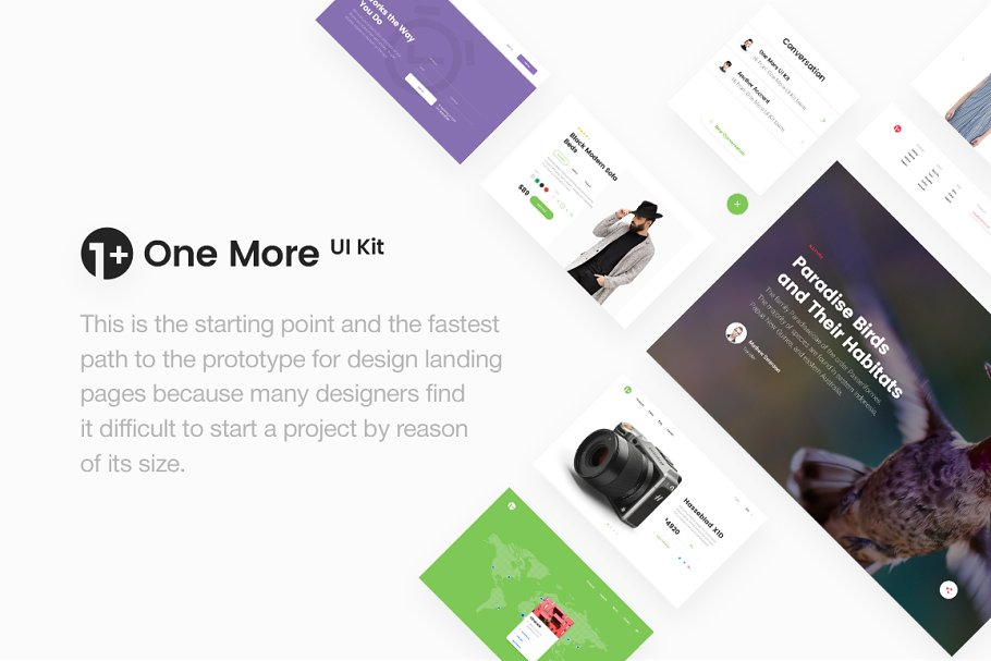 One More UI Kit | Free Sample Inside ~ UI Kits and Libraries