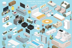 Isometric Furniture Bundle Set