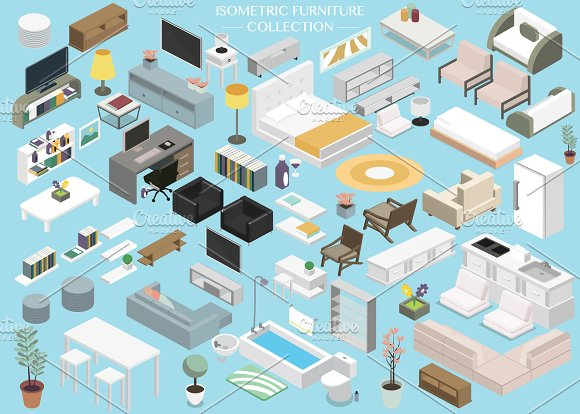 Isometric Furniture Collection Set