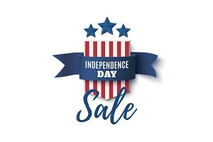 Independence Day sale background, 4th of July template.