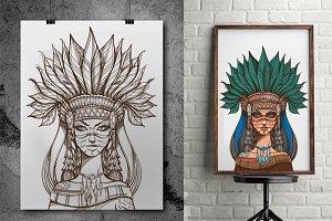 Woman-shaman. Totems
