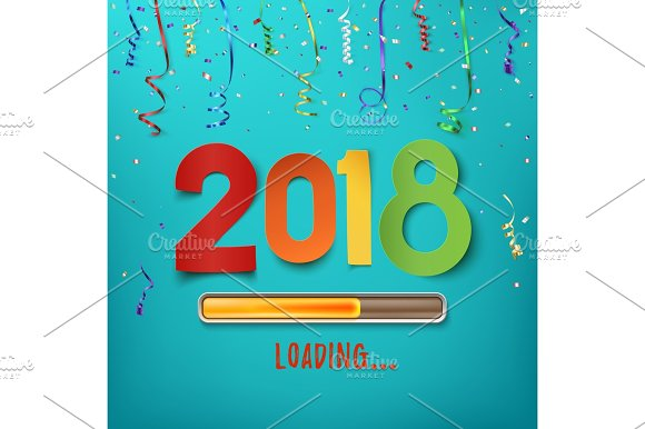 Happy New Year 2018 Loading