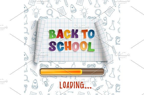 Back To School Loading Curved Banner