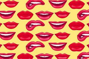 Trendy Sweet Lips Pattern