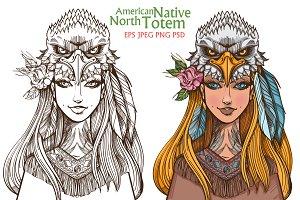 Woman-Eagle. Totems