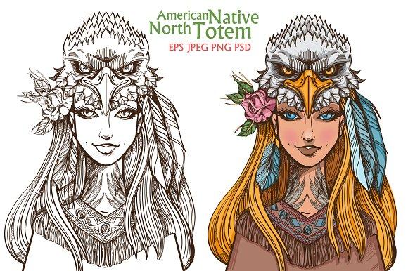 Woman-Eagle Totems